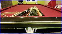 Brunswick Gold Crown IV 9ft tournament pool table Matte Black &Cues, Balls, Rack