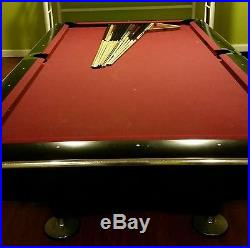 Brunswick Gold Crown IV 9ft tournament pool table with Cues, Balls, Rack & Chair