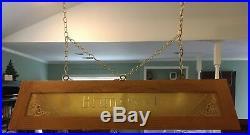 Brunswick Golden Oak 8' Regulation Pool Table + Many Accessories
