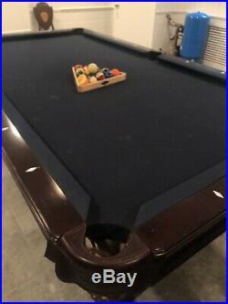 Brunswick Greenbriar II pool table, 4 Centennial Players Chairs, Diamond Slate