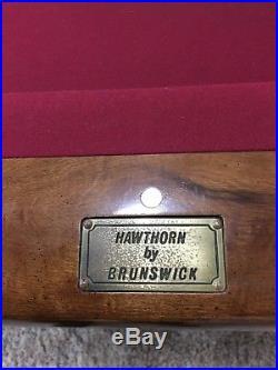 Brunswick, Hawthorne, Pool Table, 8', Slate, Ball Return, see details