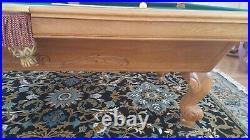 Brunswick Manchester Premier Oak 8 ft. Pool table Beautiful truly mint