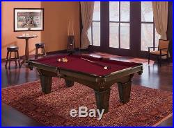 brunswick pool table 8 foot full regulation size slate game room billiards balls