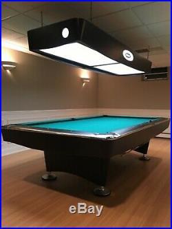 Brunswick Pool Table, Matte Black/Chrome Pockets, Mint Condition