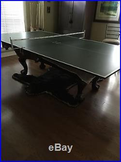 Brunswick Pool Table With All Equipment & Ping Pong Setup