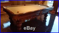 Brunswick Pool Table with rack and cues
