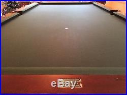 Brunswick Royal Knight 9ft Pool Table Cue Rack Cue Balls