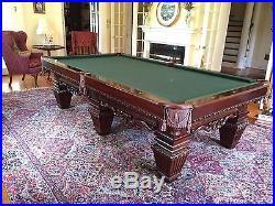 Brunswick Royal Knight 9ft Pool Table Cue Rack Cues Balls
