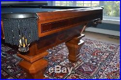 Brunswick Sorrento 8 ft. Pool Table with Matching Cues, Tables, Stools + More