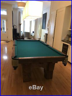 Brunswick St. Bernard Antique Pool Table, 8.5 Foot (46X92 Surface)