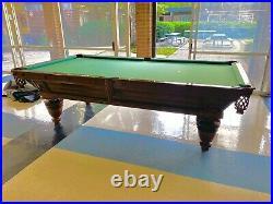 Brunswick Sunburst Union League Pool Table 9 1880s Antique