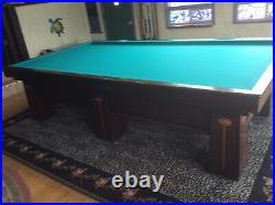 Brunswick billiard table. It is a 1905 brunsmwick medalist 5x10 table for carom