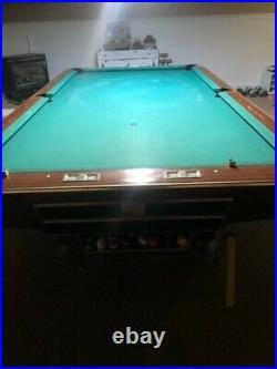 Brunswick gold crown IV 4.5' x 9' tournament pool table