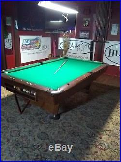 Brunswick gold crown pool table