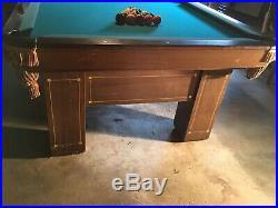 Brunswick pool table 1914 model. Jefferson 8 over size 46 wide
