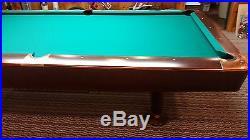 Brunswick pool table Gold Crown 9 mahogany pocket samoli 860 cloth Belgium arami