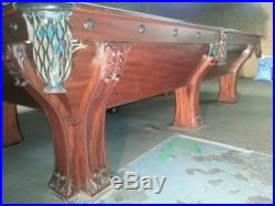 Brunswick pool table The Pfister Snooker/Pool Table and matching Wall Rack by