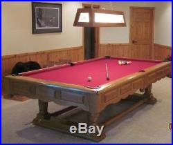 Brunswick prestige oak pool table