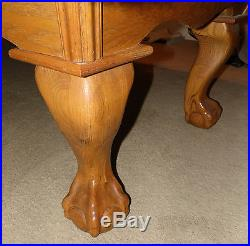 BuckHorn 8FT Regulation Slate Pool Table Leather Pockets Claw Legs