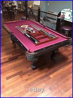 Burgundy And Black Pool Table
