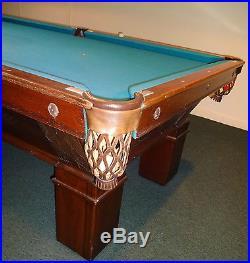 C1906 Antique H. Wagner & Adler 8' Billiard Pool Table Fully Restored Blatt NY