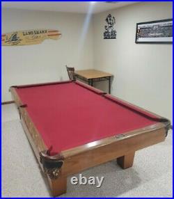 C. C. Steepleton 9' Pool / Billiards Table 3 Piece Slate