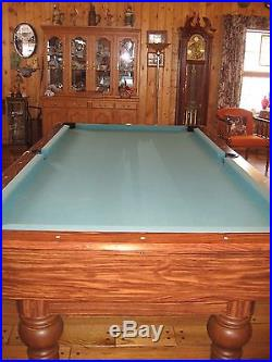 Canterbury Drop Pocket 8 Ft. Slate Home Pool Table with Accessories