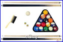 Carmelli 8 Ft Hustler Pool Table Blue Felt Billiards with Accessories