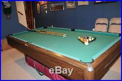 Carmelli Hustler 8' Pool Table with Billiard Balls 2 Cues Chalk Brush Rack