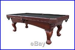 Carmelli Westport 8' Antique Walnut Slate Red Burgundy Green Black Pool Table
