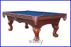 Casanova 8' Pool Table with Antique Walnut Finish and FREE Shipping