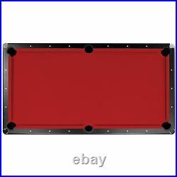 Championship Saturn II Billiards Cloth Pool Table Felt Red 7-Feet