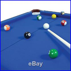 Charles Bentley 4Ft 6 Inch Blue Pool Games Table Including Balls and 2 Cues