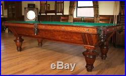 Circa 1900 Brunswick Naragansett Pool Table