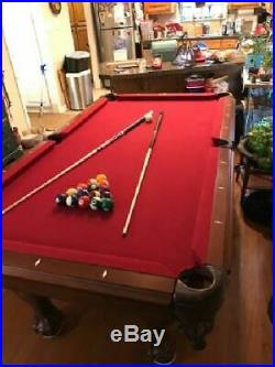 Classic Billiards Pool Table 87 inch Family Home Indoor Table Games Burgundy