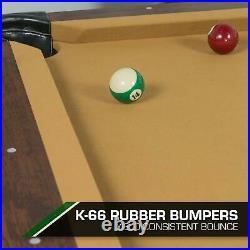 Classic Sport 7ft. 3 In. Brighton Billiard Table, Tan Cloth Pool Table