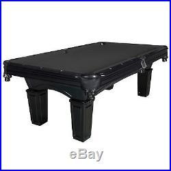 Cobra 8-ft Slate Billiard Pool Table with Black Felt Black