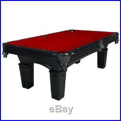 Cobra Authentic 3-Piece 1 Slate Regulation 8' Billiard Pool Table w Accessories