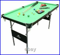 Complete Snooker Pool Table Set 4ft