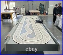 Cuatom 4x16 Slot Car Racetrack FAST&FUN Race car Mancave Gameroom Pooltable