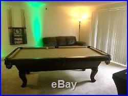 Custom Billiards Pool Table 8 Foot Regulation 3 Piece Slate Cue Stick