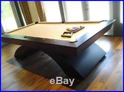 Custom Modern Pool Table 7' 8' or 9' Waterfall Pool Table
