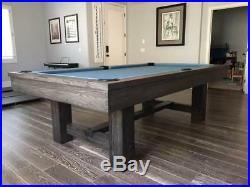 Custom Rustic Pool Table with Gauntlet Grey Finish Reclaimed Wood Look