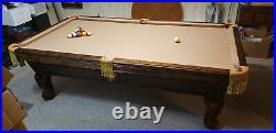 Custom Slate Pool Table built by Robbie Billards aka Robin Poffenberger with LIGHT