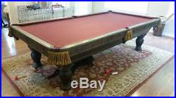 Custom Tournament Sized Pool Table with Cairs, Ques & Que Balls