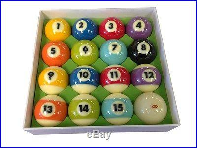 Cyclop Billiard Ball Complete Set, TV pastel Colors billiard pool table