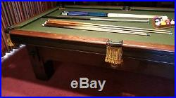Delta Pool Table/ 8Ft/One Pc Slate/Mission Style/Used/Good Cond