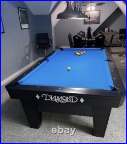 Diamond PRO AM Pool Table 8 Foot (Black)