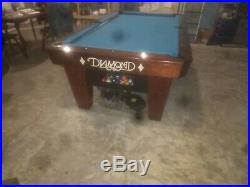 Diamond Predator 7' Smart Pool Table, Simonis Felt, Coin Mech, Excellent Conditi