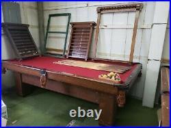 Early 1900s Brunswick Balke Collander Pool Table